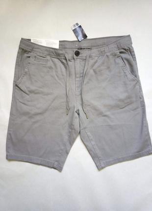 Серые мужский шорты из твилла