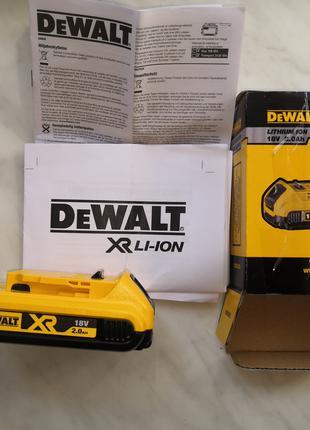 Акамулятор DeWalt DCB 183, 2.0Ah, 18V.