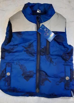 Синий жилет безрукавка тигры lupilu германия на мальчика 2 год...