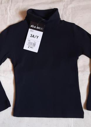 Черный гольф водолазка на 2-3 года b.a.basic германия