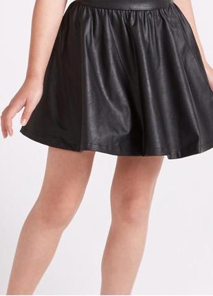 Супер модная  юбка эко кожа для девочек от 13- 14 лет sugar sq...