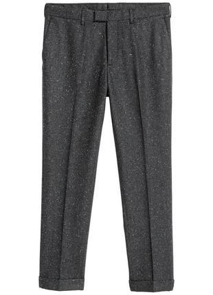 Темные костюмные брюки h&m premium quality,  slim fit, непс !