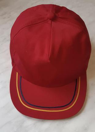 Красная кепка бейсболка с прямым козырьком франция размер 59