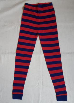 """Полосатые красно синие домашние трикотажные штаны """"primark"""" ан..."""