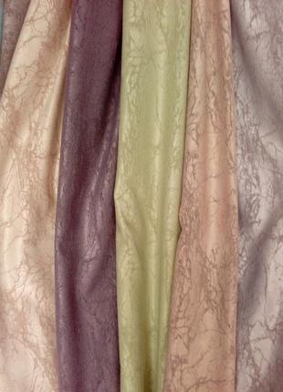 "Комплект штор из ткани лен ""короед"", цвет бирюзоввй."