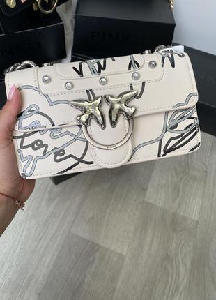 Женская сумка пинко белая