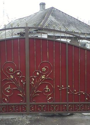 Железные ворота на заказ в Николаеве и Николаевской области