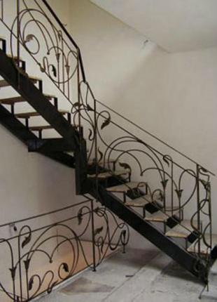 Изготовление кованных лестниц на заказ в Николаеве и области.