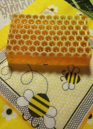 Медово-Лимонное омолаживающее натуральное  мыло ручной работы