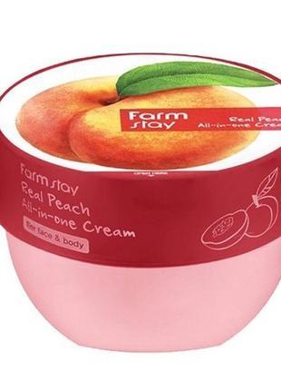 Крем для лица и тела с экстрактом персика farmstay real peach ...