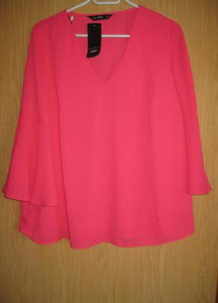 "Новая розовая блузка ""f&f"" р. 48"