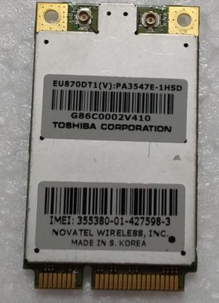 3g модем ноутбука Toshiba Portege R500 EU870DT1