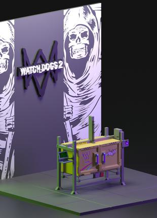 3D modeling WATCH DOGS 2 (3D printer)
