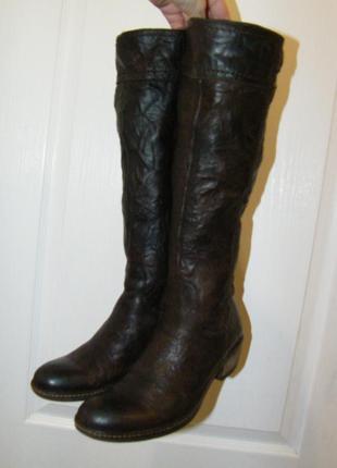 Кожаные итальянские сапоги, 38 размер