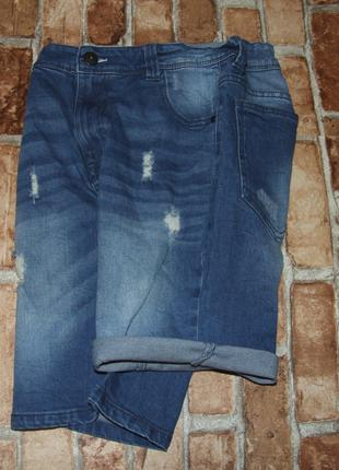 Шорты джинсовые бермуды мальчику 12 лет next