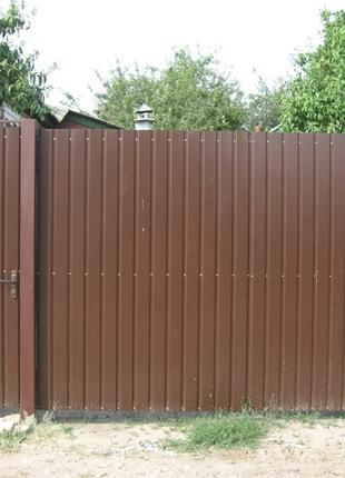 Ворота с профнастила на заказ в Николаеве и области.