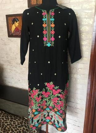 Накидка- платье с вышивкой #розвантажуюсь