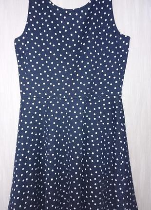 Платье h&m в горошек трикотажное р. 46
