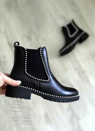 Демисезонные ботинки с эко-кожи