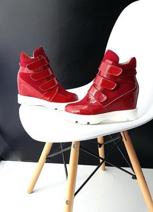 Демисезонные сникерсы. ботинки кожаные