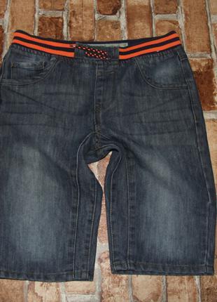 Шорты джинсовые бермуды мальчику 11 - 12 лет denim co