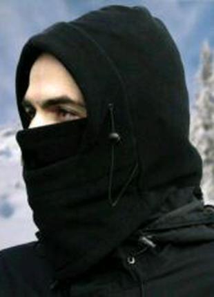 Балаклава зимняя флисовая 3  1, капюшон, шапка, бафф зимний, шарф