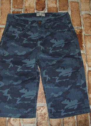 Джинсовые шорты бермуды мальчику 9 - 10 лет zara