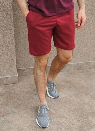 Базовые мужские шорты цвета бордо