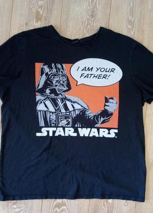 Оригинальная футболка черная я твой отец i am your father звез...