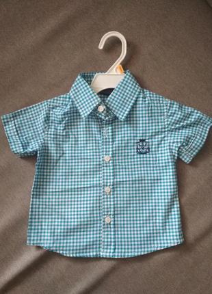 Нарядная новая рубашка в клетку sahara club (сша) мальчику на ...