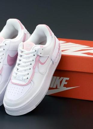 Nike air force white pink, женские кроссовки