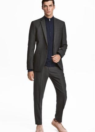 Серые костюмные брюки h&m , skinny fit !