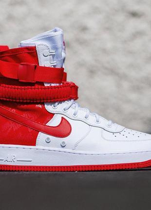 Мужские кроссовки nike sf air force 1 (красно/белые)