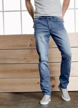 Классные мужские голубые джинсы slim fit от livergy германия