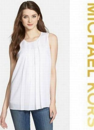 Michael kors блуза белая оригинал м l 12 14 46 48