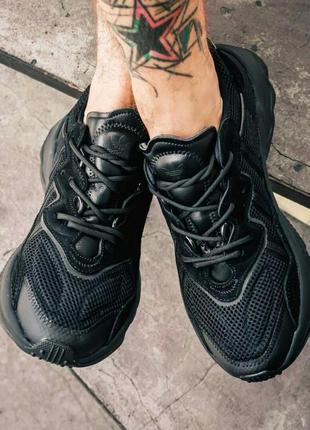 Кроссовки adidas ozweego all black кросівки