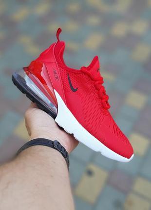 Крутые лёгкие женские кроссовки nike air max 270 красные