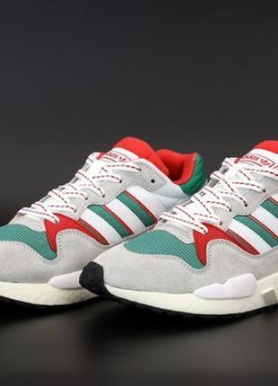 Adidas equipment white grey red green, кроссовки мужские адидас