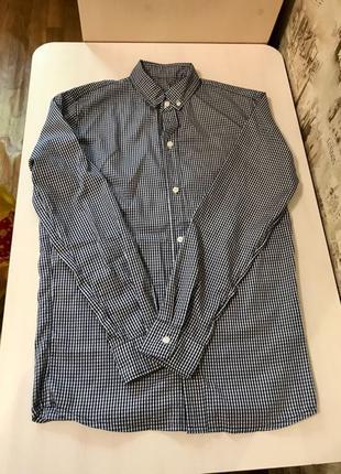 Рубашка мужская в клеточку