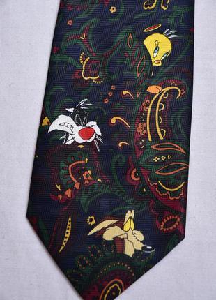 Стильный галстук  c героями looney tunes