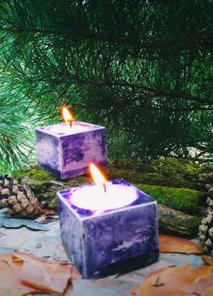 Геометрические подсвечники для свеч.