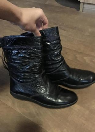 Сапожки ботинки кожа сапоги