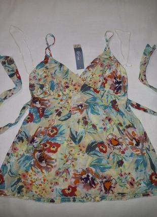 Коттоновая легкая майка блуза от e-vie для беременной и не только