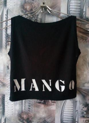 Черный топ mango