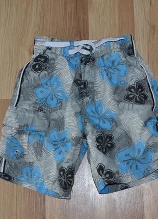 Пляжные шорты rebel р.98-104, с подкладкой