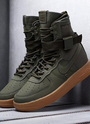 Мужские кроссовки nike sf air force 1 (зеленые)