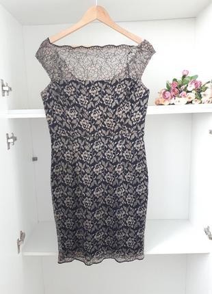 M/46 кружевное нарядное платье вечернее коктейльное xscape 31817