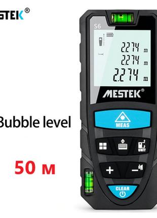 50 м лазерный дальномер, рулетка Mestek S6
