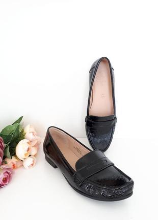 35р. кожаные туфли лакированные footglove 41956