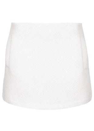 Трикотажная мини юбка классика   трапеция topshop  71687